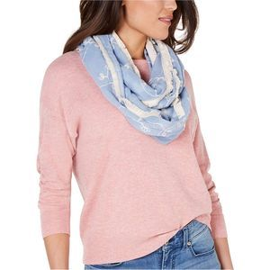 4/$25 INC Blue Embroidered Infinity Scarf Blue OS